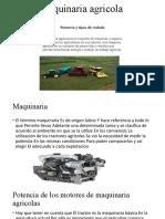 maquinaria agricola potencia y tipo de rodado