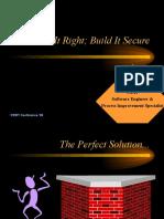 Build It Right Build It Secure - Cert Presentation (1999)