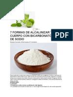 7 FORMAS DE ALCALINIZAR