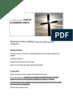 HECHOS FUNDAMENTALES DE LA SEMANA SANTA67077987