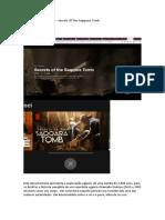 horas complementares - Documentário Secrets Of The Saqquara Tomb.