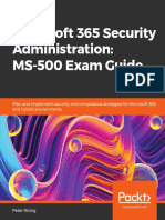 Peter Rising - Microsoft 365 Security Administration_ MS-500 Exam Guide_ Plan and implement security and compliance strategies for Microsoft 365 and hybrid environments-Packt Publishing (2020)