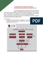 Protocolo atención evaluacion y registro de notas COVID 19