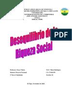 DESEQUILIBRIO DE LA RIQUEZA SOCIAL