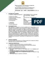 Guia del proyecto de Aseguramiento de la Calidad de Software version 1.0