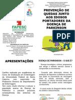 Cartilha Educativa Prevenção de Quedas Idosos Doença de Parkinson 1