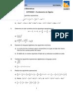 Actividad 1. Fundamentos de Álgebra