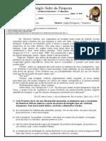 Avaliação bimestral - Anglo - Português