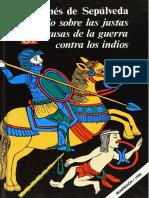 Juan Ginés de Sepúlveda - Tratado sobre las justas causas de la guerra contra los indios-Fondo de Cultura Económica (1996)