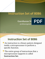 Instruction Set of 8086