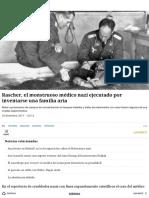 Rascher, el monstruoso médico nazi