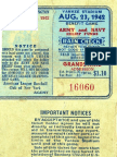 1940's NY Yankee Dodger Ticket Stubs