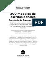Modelos de Escritos Penales. Provincia de Buenos Aires.