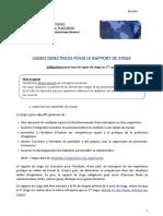 Lignes Directrices Rapport de Stage