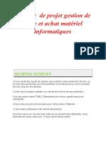 Rapport de Projet Gestion de Vente Et Achat Matériel Informatique