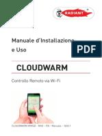 Manuale d Installazione e Uso CLOUDWARM. Controllo Remoto via Wi-Fi. CLOUDWARM WIRED - RAD - ITA - Manuale