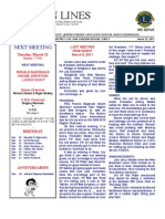 Newsletter - March 22 2011
