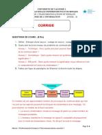 Corrige Sujet2 Theorie de Info