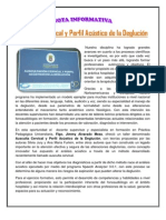 Nota Informativa Perfil Acústico de La Deglución.