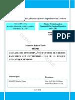 Analyse Des Determinants Doctroi de Cred Unlocked
