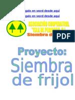 PROYECTO SIEMBRA DE FRIJOL