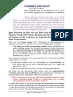 `Grundgesetz oder Koran´ - von Franz Kronbeck