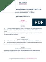 REGULAMENTO DA COMPONENTE ESTÁGIO CURRICULAR