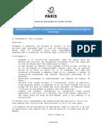 Déclaration d'engagement volontaire de transparence et de respect de règles de déontologie