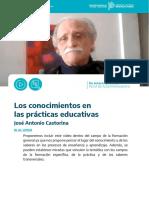 Castorina. Los conocimientos en las prácticas educativas