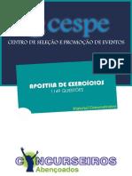 APOSTILA DE EXERCÍCIOS - BANCA CESPE (GRÁTIS)