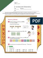 ticket matematica