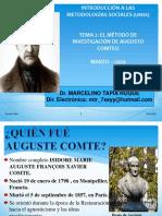 DIAPOSITIVAS DEL DOCENTE PARA EL METODO INVESTIGACIÓN DE COMTE (2020)