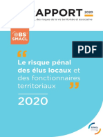 Le rapport 2020 de l'Observatoire SMACL des risques de la vie territoriale et associative