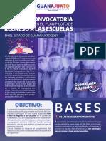Segunda convocatoria Plan Piloto Regreso a las Escuelas Guanajuato