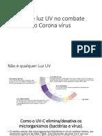 Uso de luz UV no combate ao Coronavirus