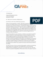 Letter to Citizens Redistricting Commission [3/18/11]