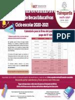 Pago quinto bimestre Becas Educativas Tlalnepantla 2020-2021