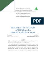 Resumen Tecnologia Aplicada a la Produccion de Carne