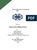 17.Project-SuperMarket Billing system