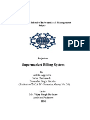 17 Project-SuperMarket Billing system | Oracle Database