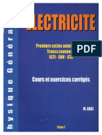 Electricite Cours Et Exercices