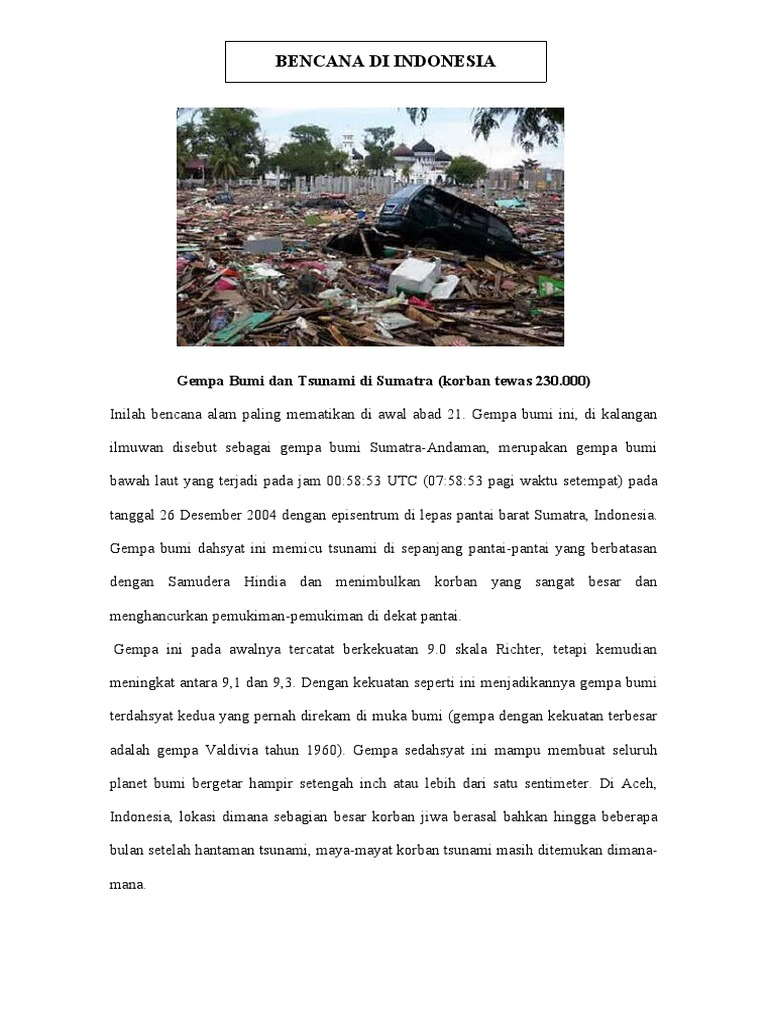 Contoh Forum Bencana Alam - Terbaru 10
