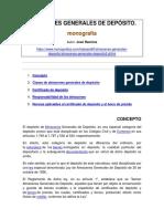 ALMACENES GENERALES DE DEPÓSITO. MONOGRAFÍA