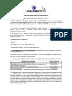 EDITAL PROC. SELETIVO UNINABUCO EAD  - 2021