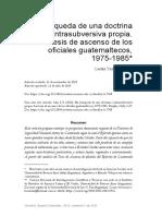 En búsqueda de una Doctrina contrasubversiva propia. Las tesis de ascenso de los oficiales guatemaltecos, 1975-1985