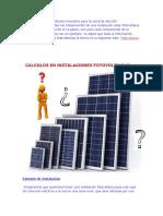 calculo paneles y baterias solares