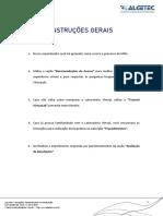 Movimento Retilíneo Uniforme - Instruções Gerais