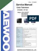 DAEWOO CP185  DTA-14C4TFF, DTA-20C4TF, DTA-14V1TF, DTA-21C6TFF  SM