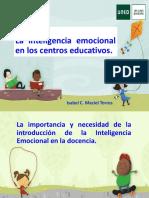 La inteligencia emocional en los centros educativos. Isabel C. Maciel Torres