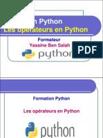 4- Les Opérateurs en Python - Yassine Ben Salah